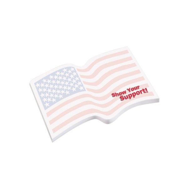 Post-it® Custom Printed Die-Cut Notes - Flag Shape