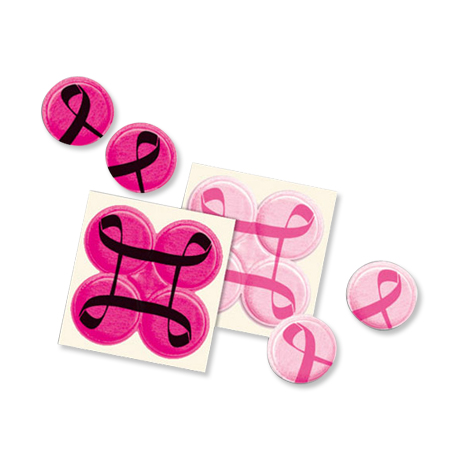 Breast Cancer Awareness Reflective Quad Dots, Stock