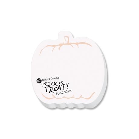 Post-it® Custom Printed Die-Cut Notes - Pumpkin Shape
