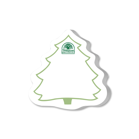 Post-it® Custom Printed Die-Cut Notes - Tree Shape