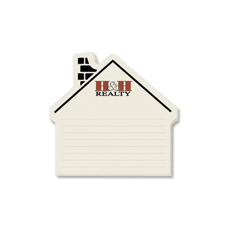 Post-it® Custom Printed Die-Cut Notes - House Left Shape