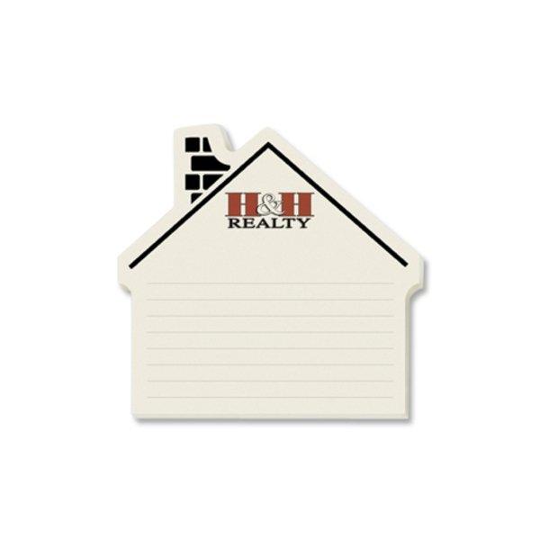 Post-it® Custom Printed Die-Cut Notes - House Left Shape