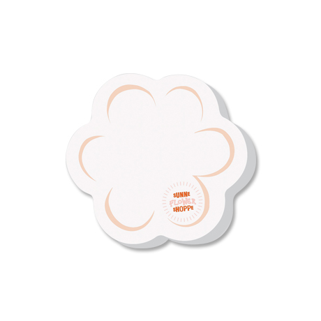 Post-it® Custom Printed Die-Cut Notes - Flower Shape
