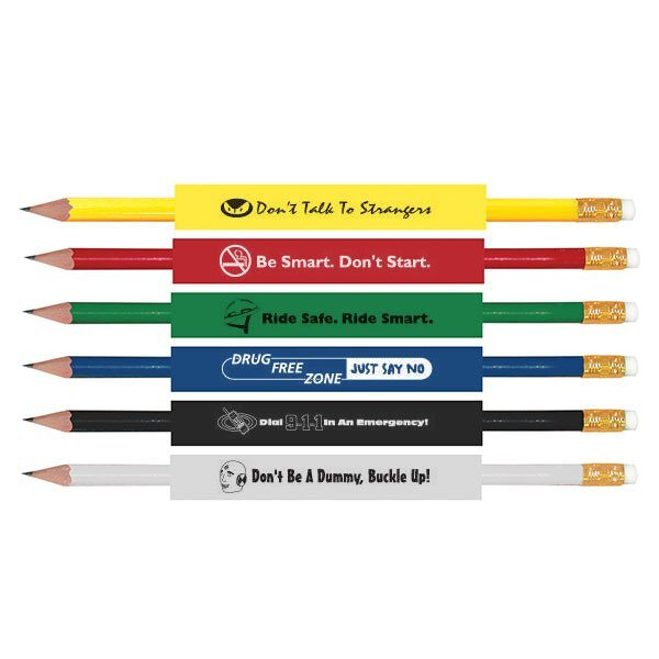 Safety Pencils Standard Colors, Stock Assortment