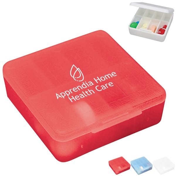 Compact Pocket Pill Box, Eight Compartment