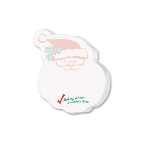 Post-it® Custom Printed Die-Cut Notes - Santa Shape