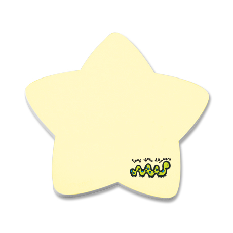 Post-it® XL Custom Printed Die-Cut Notes - Star Shape