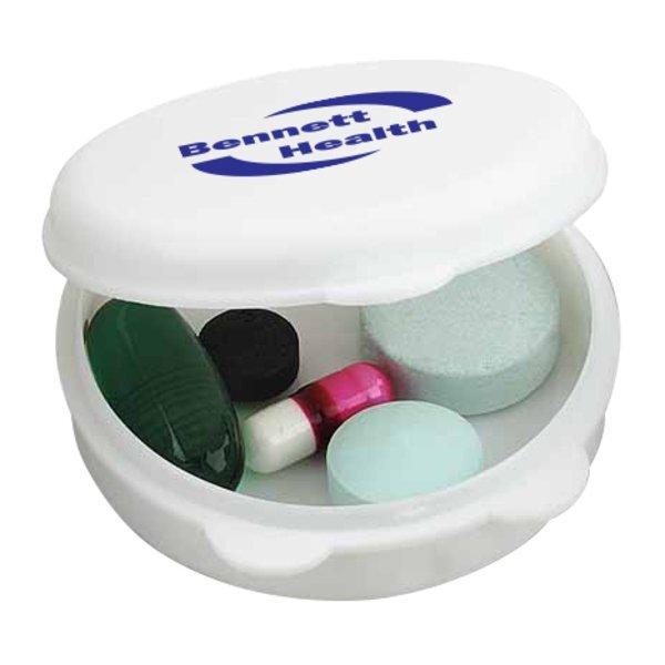 Round-The-Clock Pocket Pill Box, Single Compartment