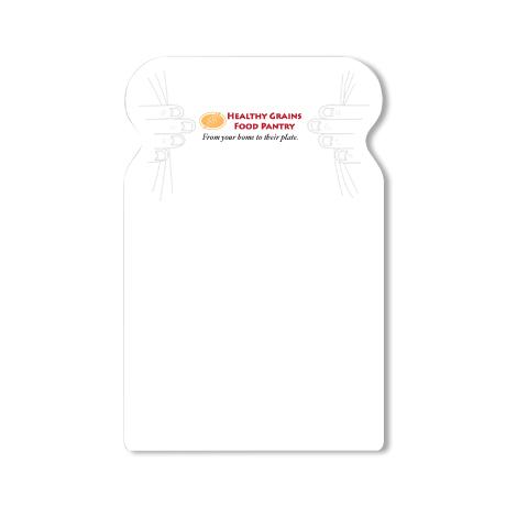 Post-it® XL Custom Printed Die-Cut Notes - Bread Shape