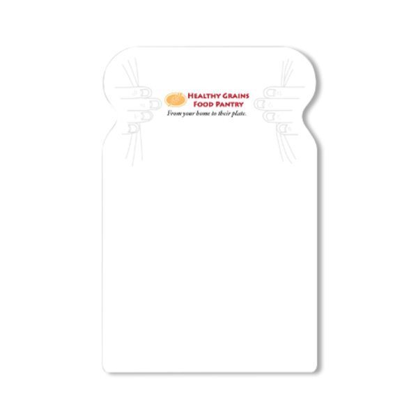 Post-it® XL Custom Printed Die-Cut Notes - Bread Shape