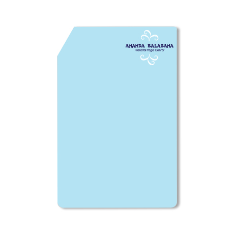 Post-it® XL Custom Printed Die-Cut Notes - Rectangle w/ Slant Corners Shape