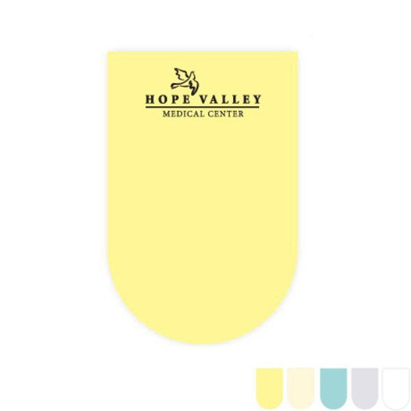Post-it® XL Custom Printed Die-Cut Notes - U-Shape Shape