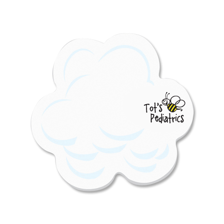 Post-it® XL Custom Printed Die-Cut Notes - Cloud Shape