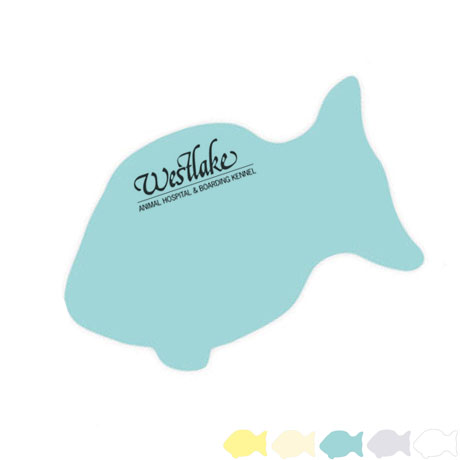 Post-it® XL Custom Printed Die-Cut Notes - Fish Shape