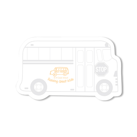 Post-it® XL Custom Printed Die-Cut Notes - Bus Shape