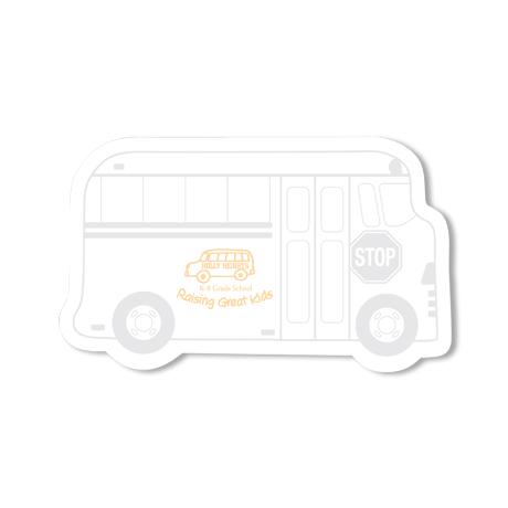 Post-it® XL Custom Printed Die-Cut Notes - Bus Shape