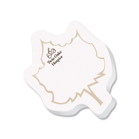 Post-it® XL Custom Printed Die-Cut Notes - Leaf Shape