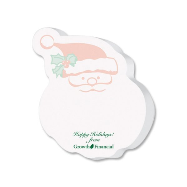 Post-it® XL Custom Printed Die-Cut Notes - Santa Shape