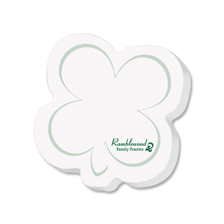 Post-it® XL Custom Printed Die-Cut Notes - Shamrock Shape
