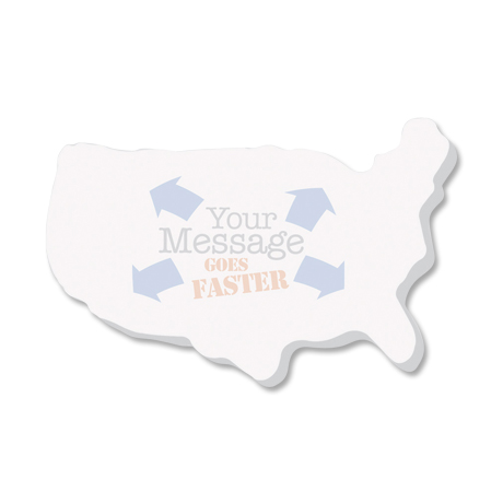 Post-it® XL Custom Printed Die-Cut Notes - United States Shape