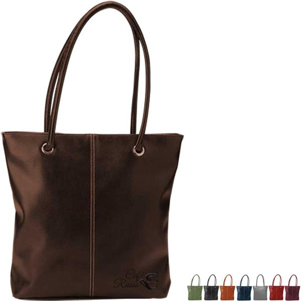 Lamis Faux Leather Tote