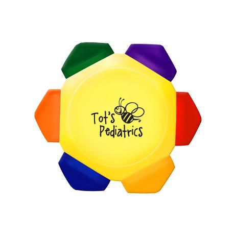 Crayo-Craze® 6 Color Crayon Wheel - Yellow