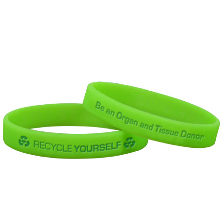 Recycle Yourself Silicone Bracelet Wristband, Stock - On Sale!