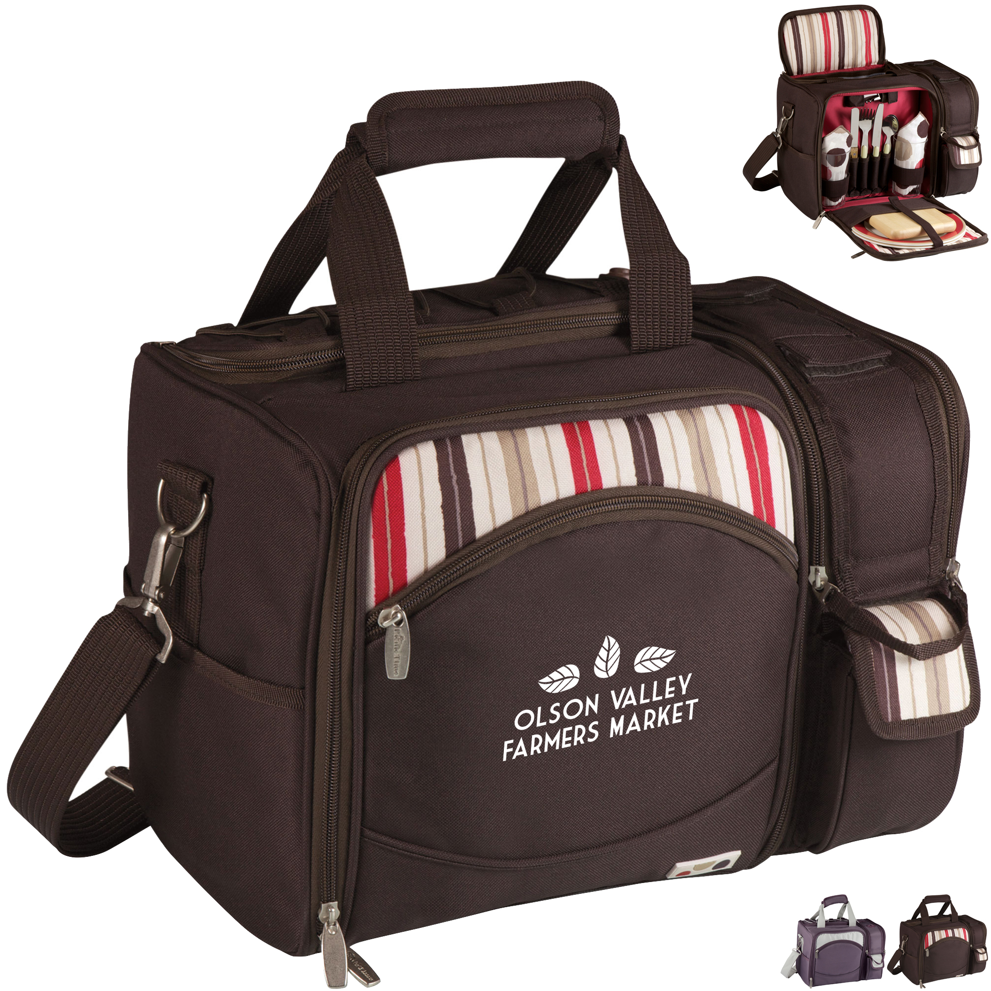 Malibu Picnic Cooler Set - Fashion Colors