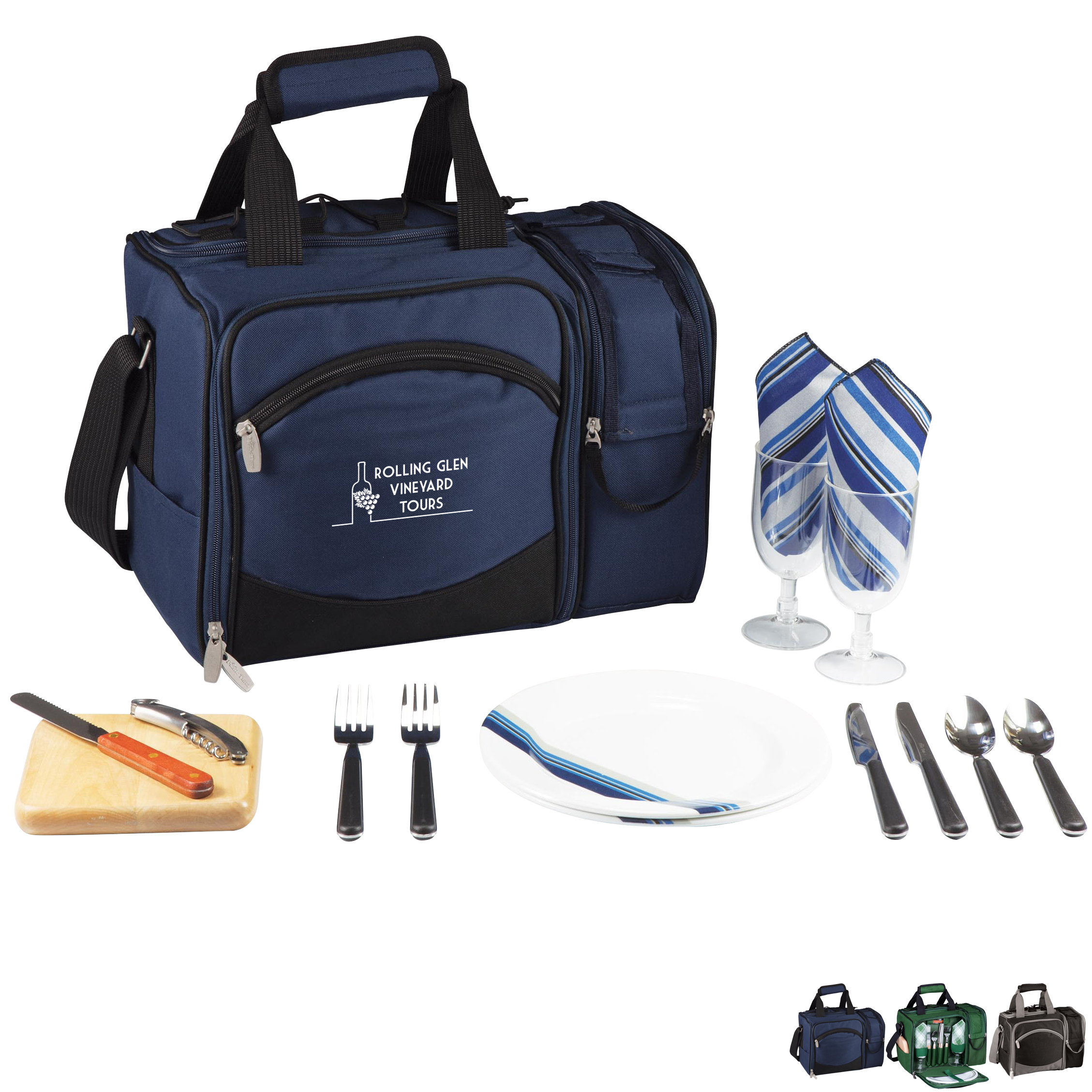 Malibu Picnic Cooler Set - Solid Colors