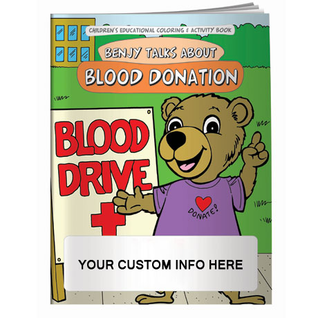 Benjy Talks About Blood Donation Coloring & Activity Book