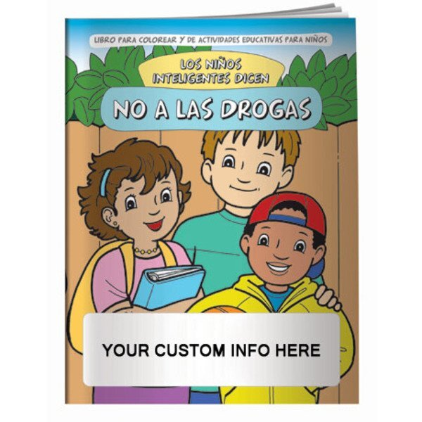 Smart Kids Say No To Drugs Coloring & Activity Book - Spanish Version