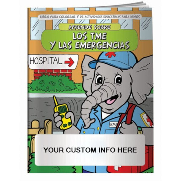 EMT's & Emergencies Coloring & Activity Book - Spanish Version
