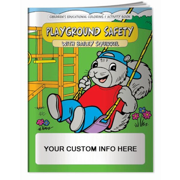 Playground Safety with Bailey Squirrel Coloring & Activity Book