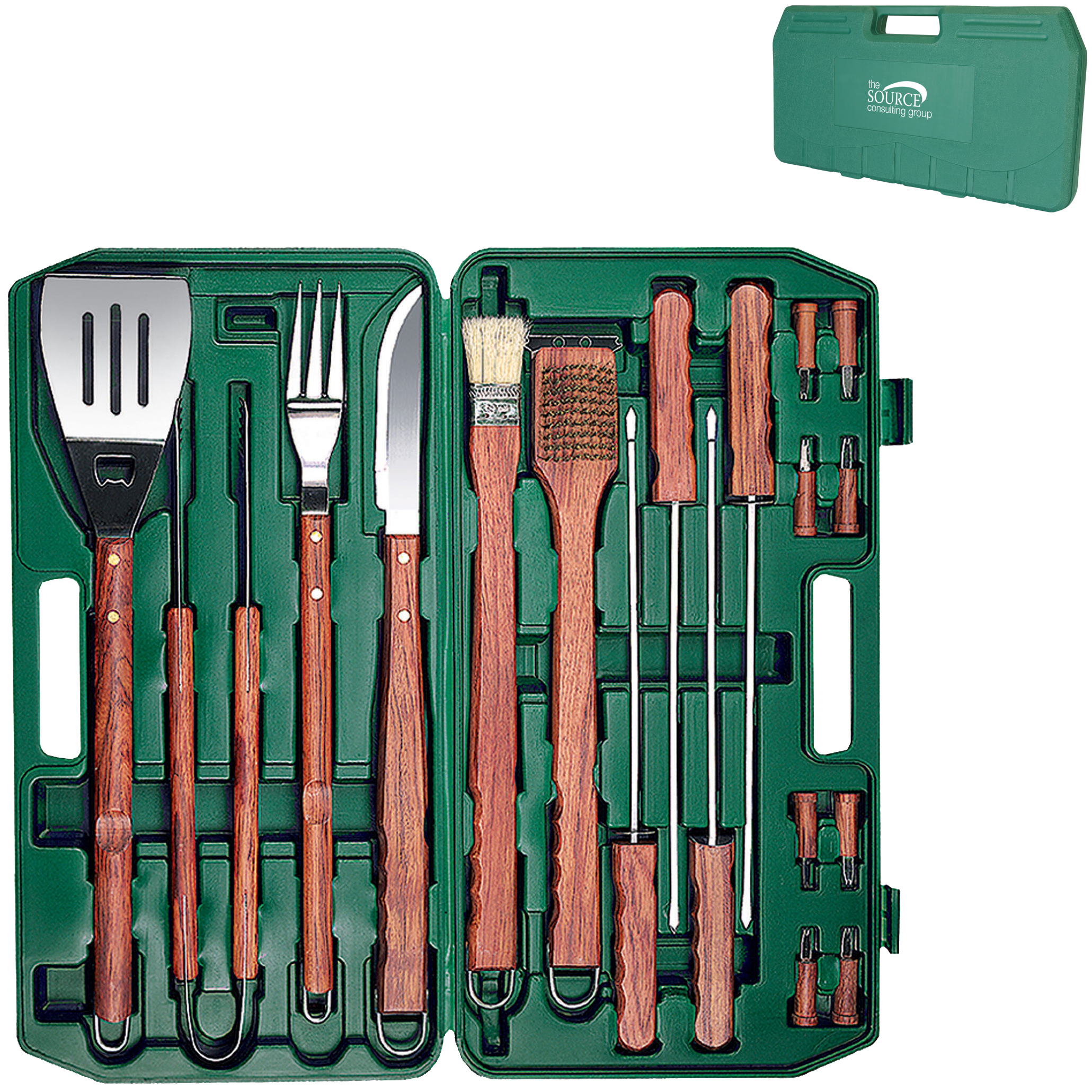 Eighteen-Piece BBQ Tool Set