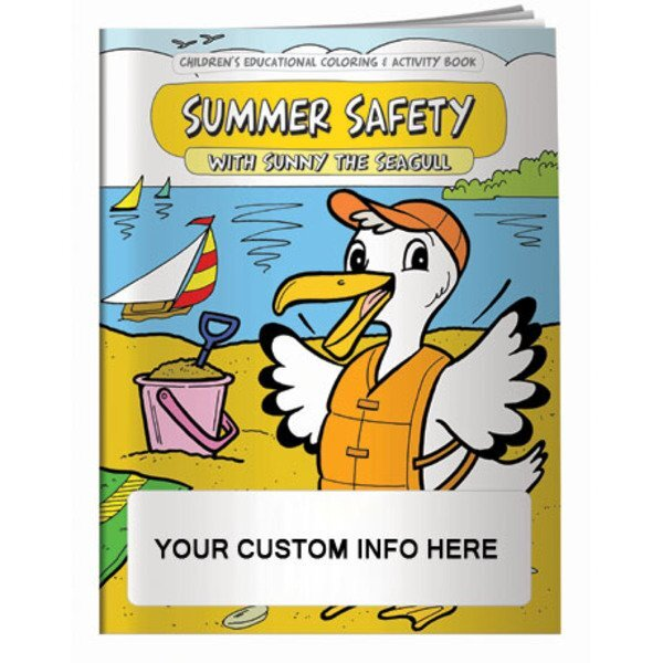 Summer Safety with Sunny the Seagull Coloring & Activity Book