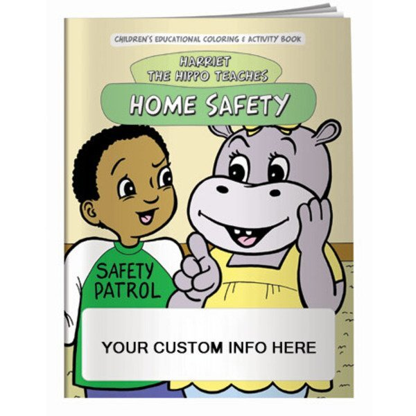 Home Safety w/Harriet the Hippo Coloring & Activity Book