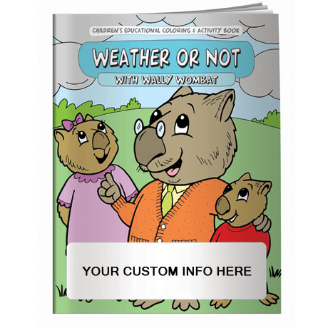 Weather or Not with Wally Wambat Coloring & Activity Book