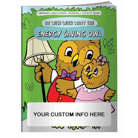Be Wise with Watt the Energy Saving Owl Coloring & Activity Book