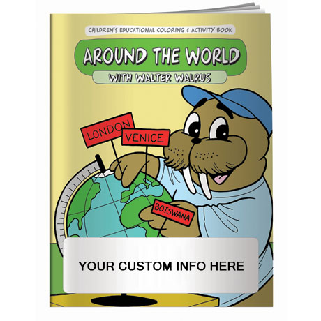 Around the World with Walter Walrus Coloring & Activty Book