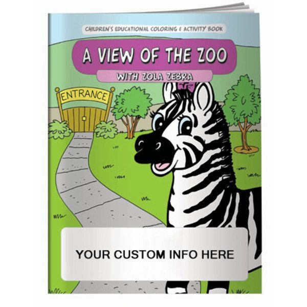 A View of the Zoo Coloring & Activity Book