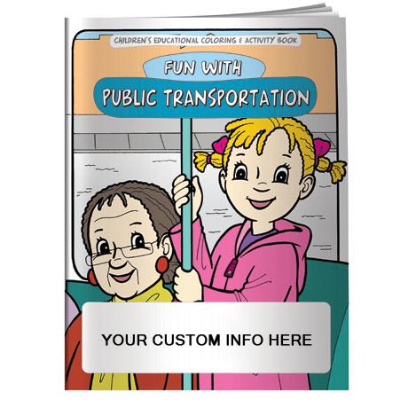 Adventures in Public Transportation Coloring & Activity Book