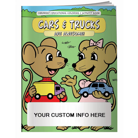 Cars & Trucks are Awesome Coloring & Activity Book