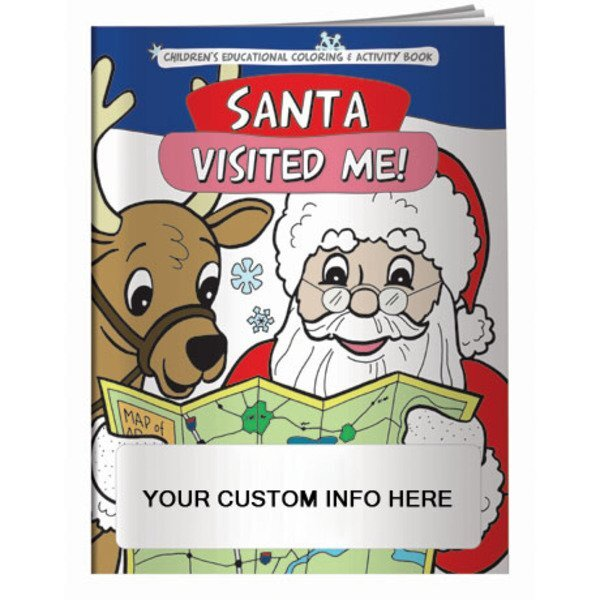 Santa Visited Me Coloring & Activity Book