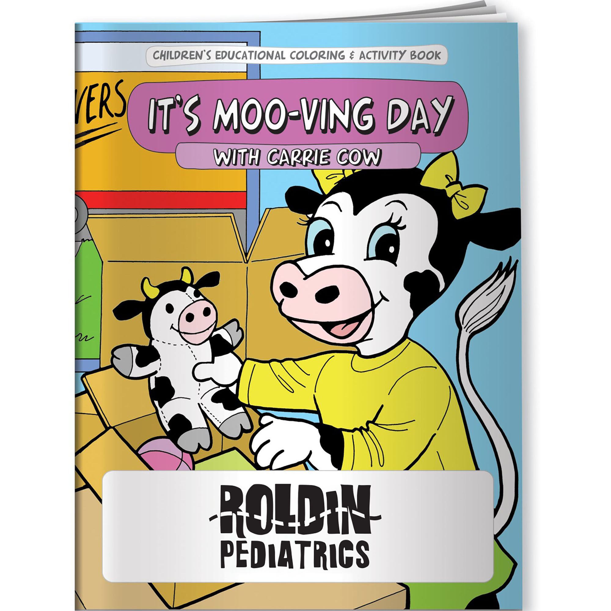 It's Moo-ving Day with Carrie Cow Coloring & Activity Book