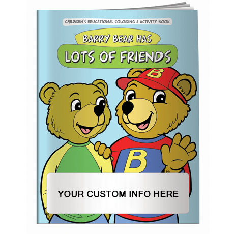 Barry Bear Has Lots of Friends Coloring & Activity Book
