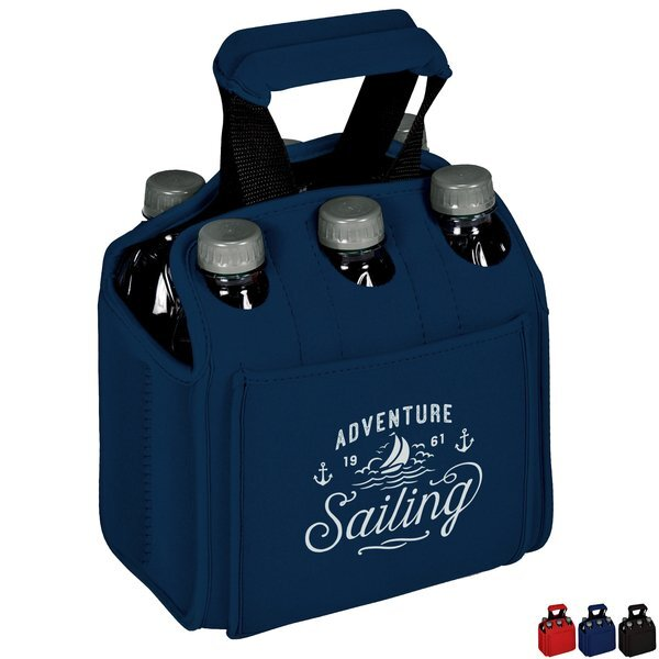 Six Pack Neoprene Insulated Bottle & Can Carrier