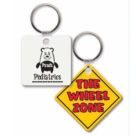Square Key Tag with Rounded Corners