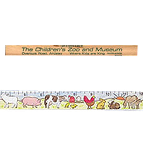 "Color-Me Natural Finish Ruler, 12"" - Farm Animals Theme"