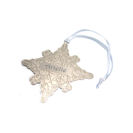 Holiday Snowflake Plated Finish Ornament