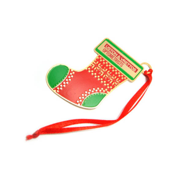 Holiday Stocking Plated Finish Ornament